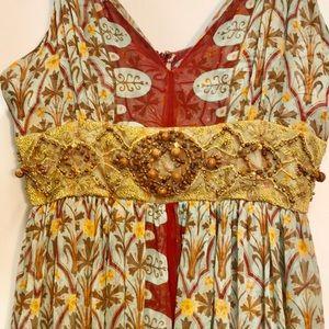 Tracy Reese NY 100% Silk Maxi Dress 10